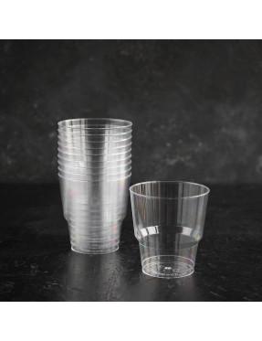 Стакан пластиковый, прозрачный, жёсткий, 0,2л