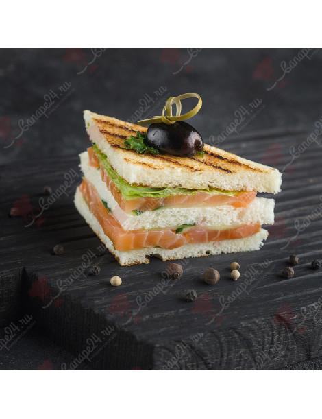 Мини сэндвич с семгой