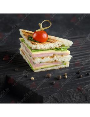 Мини сэндвич с ветчиной и сыром